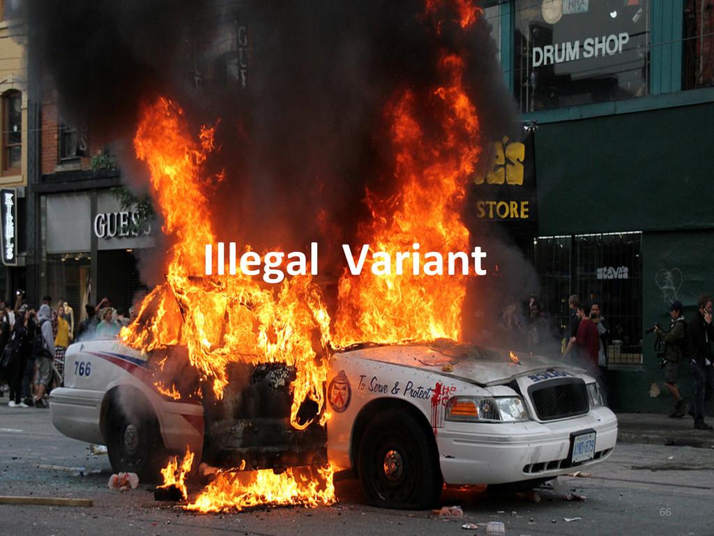Illegal  Variant   66