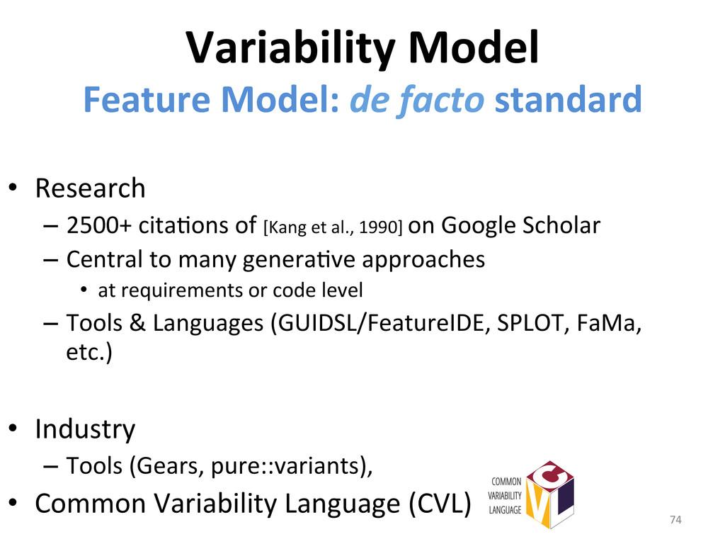 Variability Model  Feature Model: d...