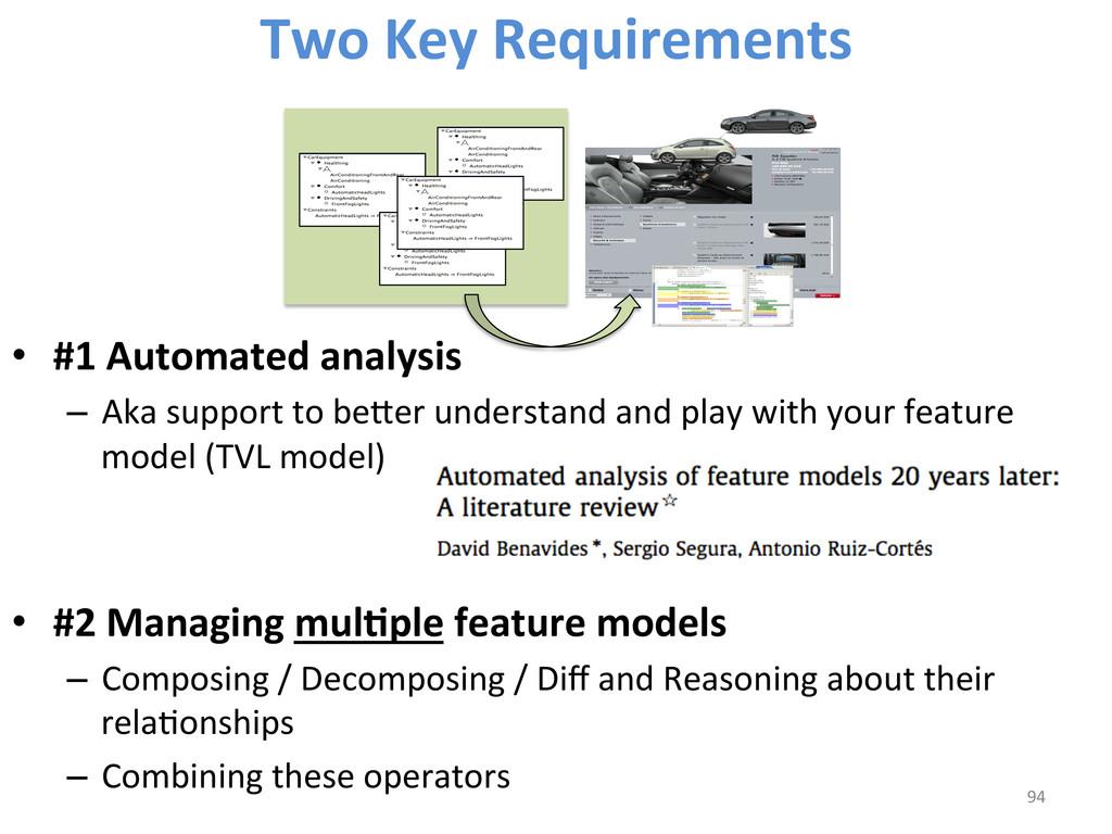 • #1 Automated analysis   – Aka...