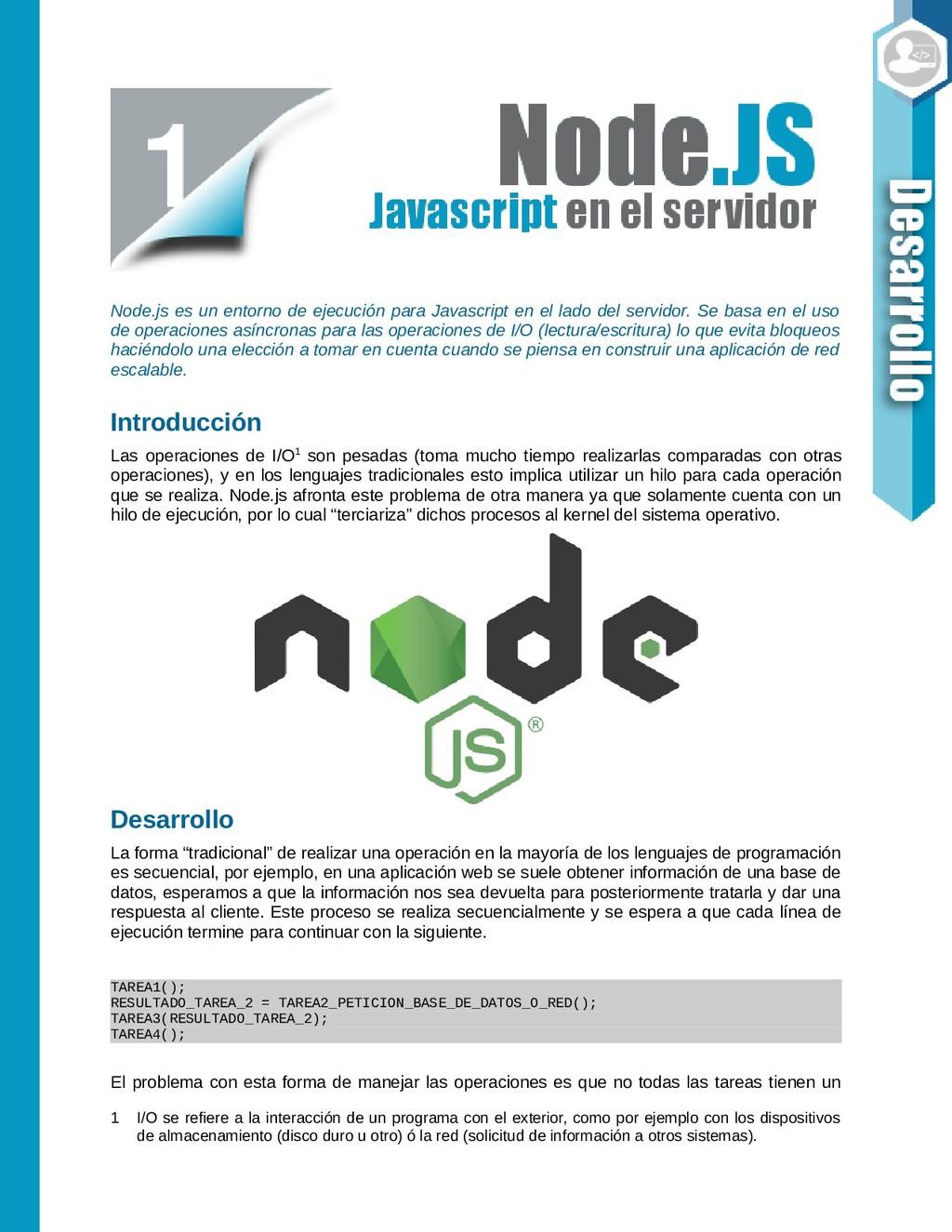 Node.js es un entorno de ejecución para Javascr...