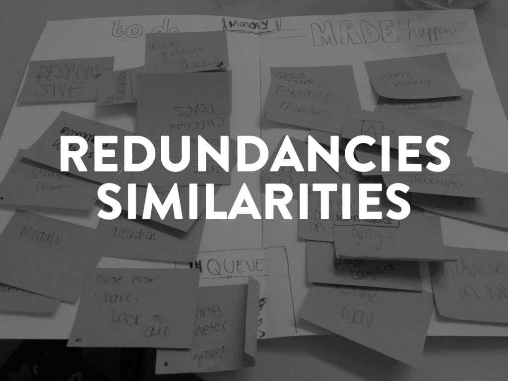 @marktimemedia REDUNDANCIES SIMILARITIES