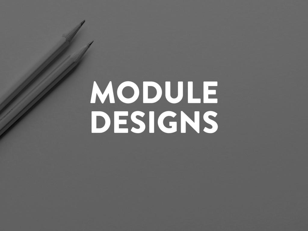 @marktimemedia MODULE DESIGNS