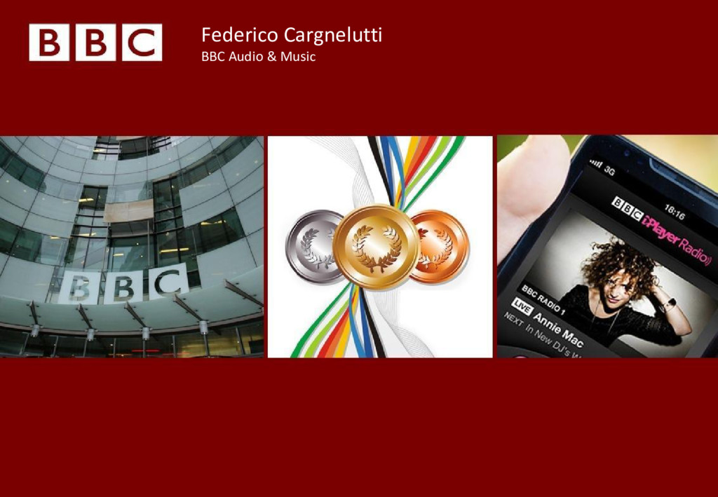 Federico Cargnelutti BBC Audio & Music