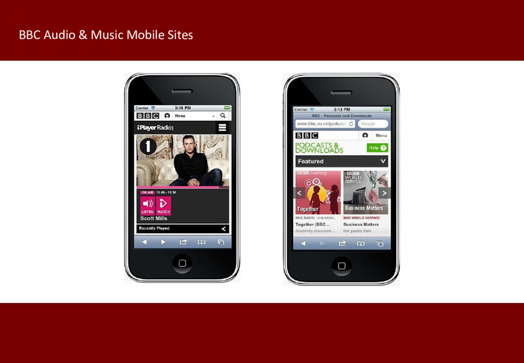 BBC Audio & Music Mobile Sites