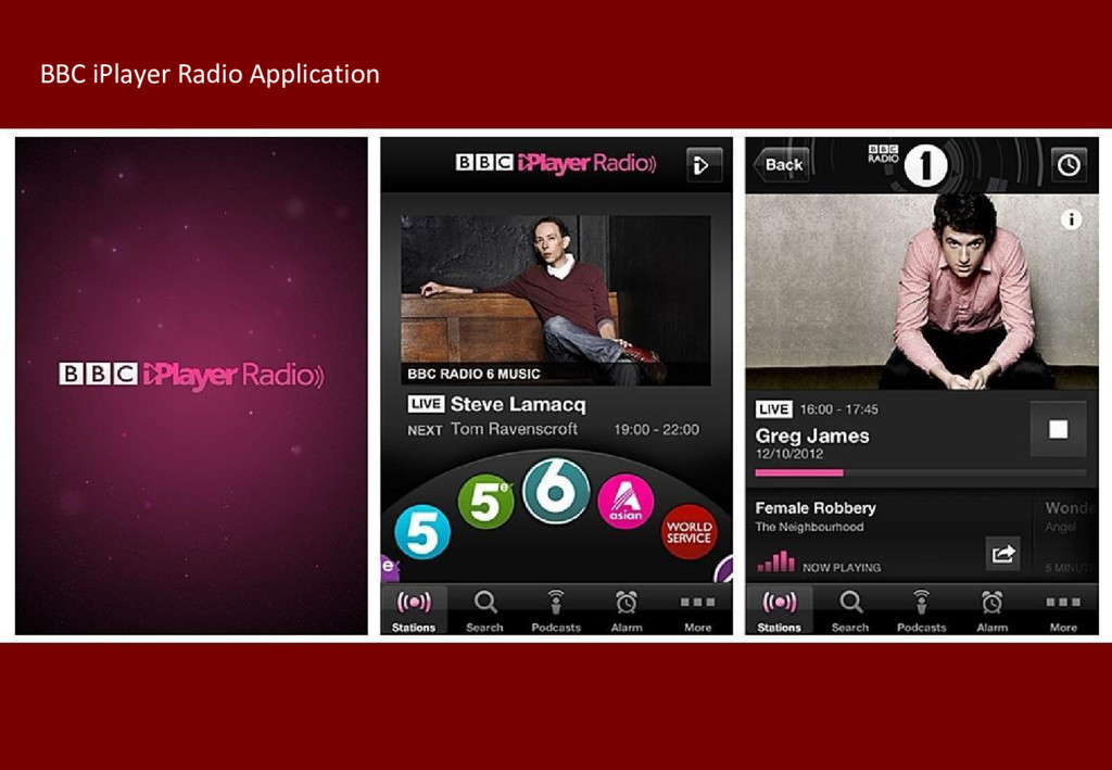 BBC iPlayer Radio Application