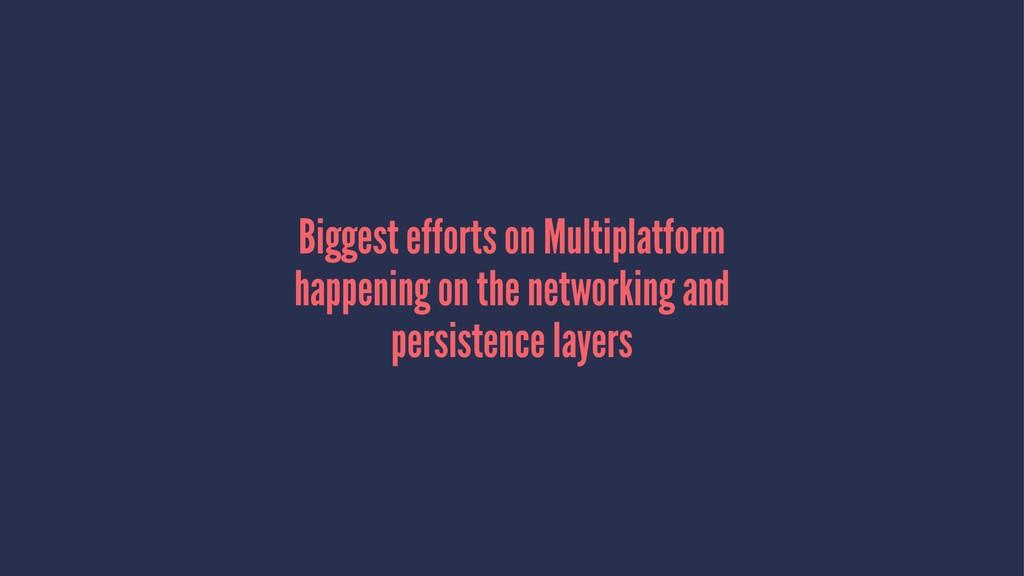 Biggest efforts on Multiplatform happening on t...