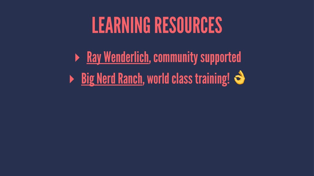 LEARNING RESOURCES ▸ Ray Wenderlich, community ...