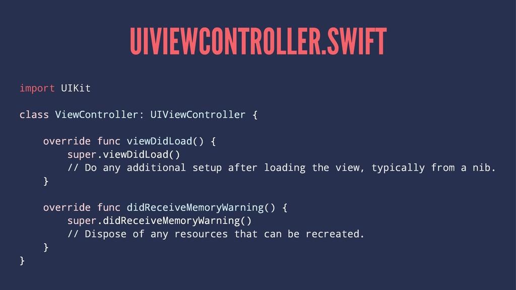 UIVIEWCONTROLLER.SWIFT import UIKit class ViewC...