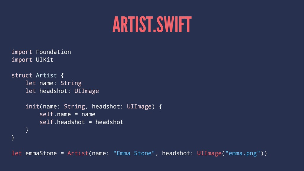 ARTIST.SWIFT import Foundation import UIKit str...