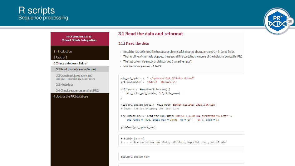 28 R scripts Sequence processing |