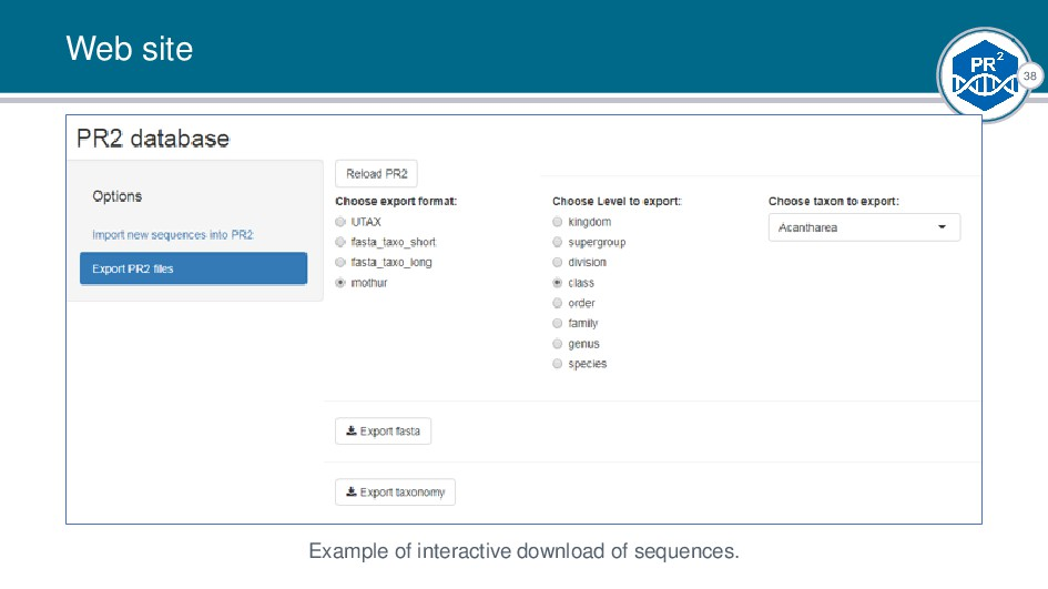 38 Web site Example of interactive download of ...