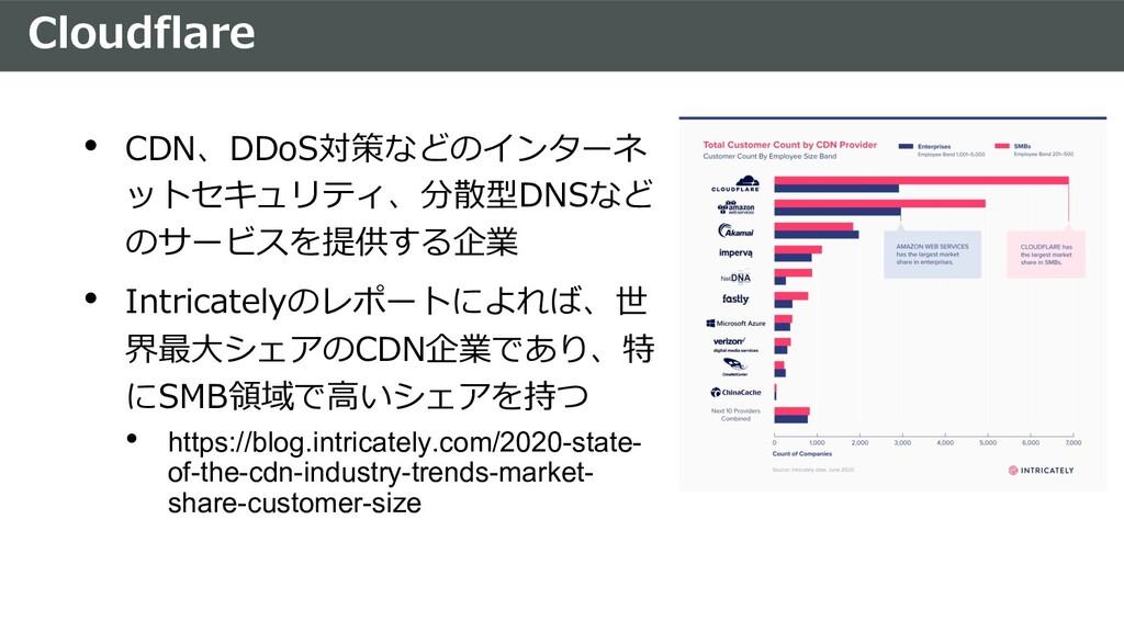Cloudflare • CDN、DDoS対策などのインターネ ットセキュリティ、分散型DNS...