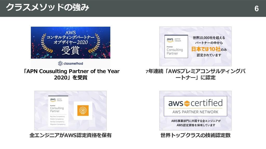 クラスメソッドの強み 「APN Cousulting Partner of the Year ...