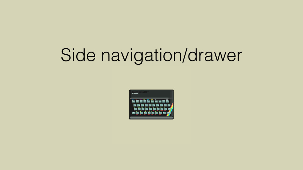 Side navigation/drawer