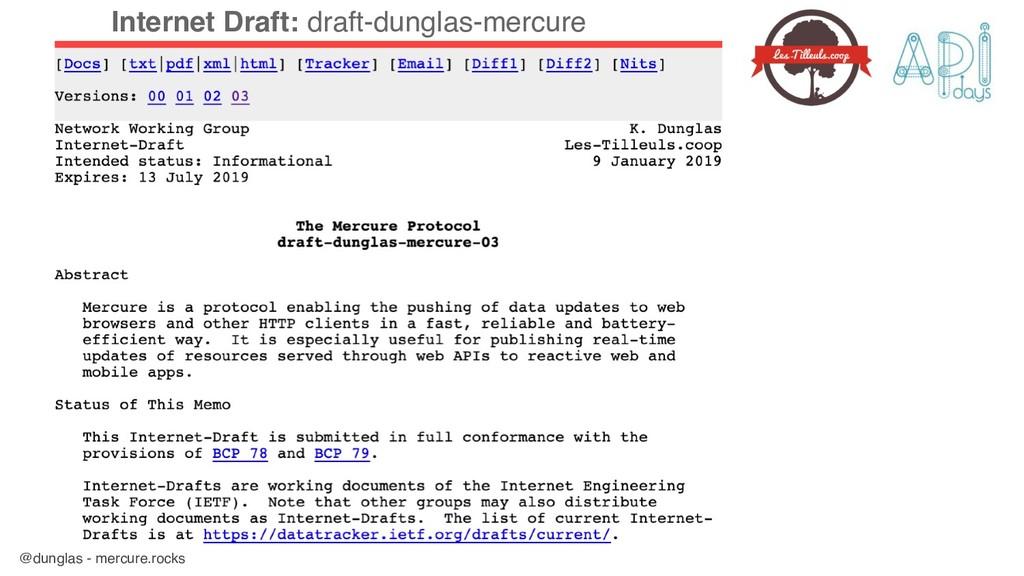 @dunglas - mercure.rocks Internet Draft: draft-...