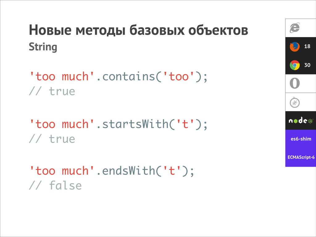 Новые методы базовых объектов String 'too much'...