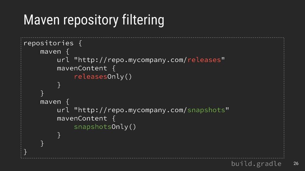 Maven repository filtering 26