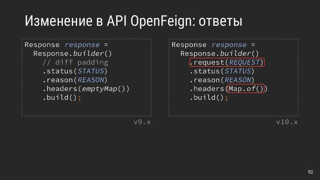 Изменение в API OpenFeign: ответы 92