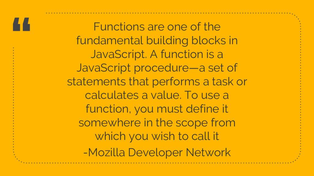 """ Functions are one of the fundamental building..."