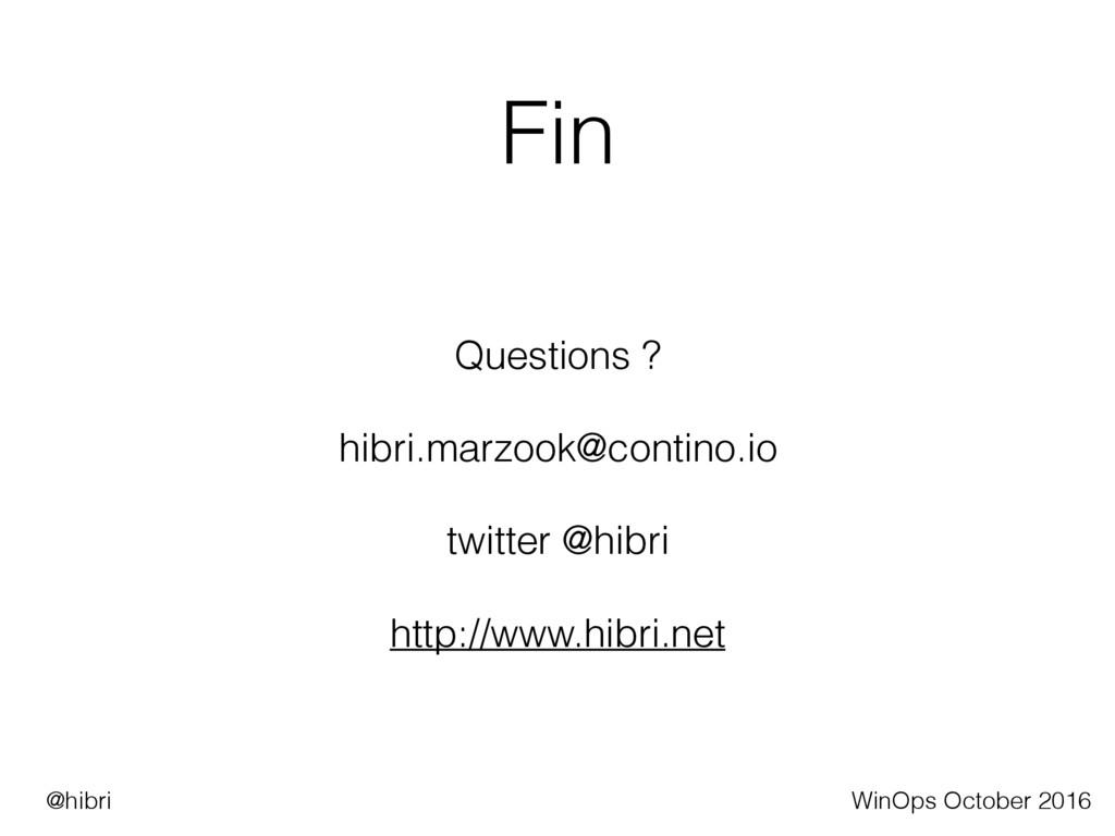 Fin Questions ? hibri.marzook@contino.io twitte...