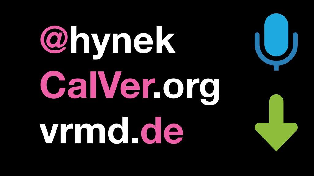 @hynek CalVer.org vrmd.de