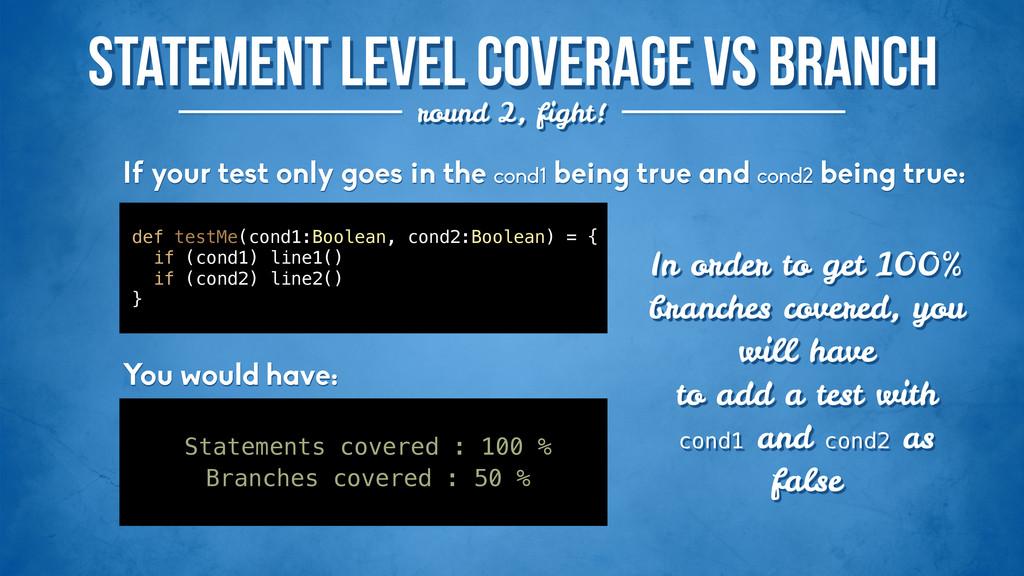 Statement level coverage vs Branch round 2, fig...