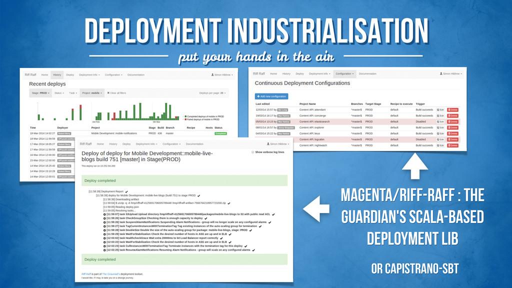 deployment INDUSTRIALISATION put your hands in ...