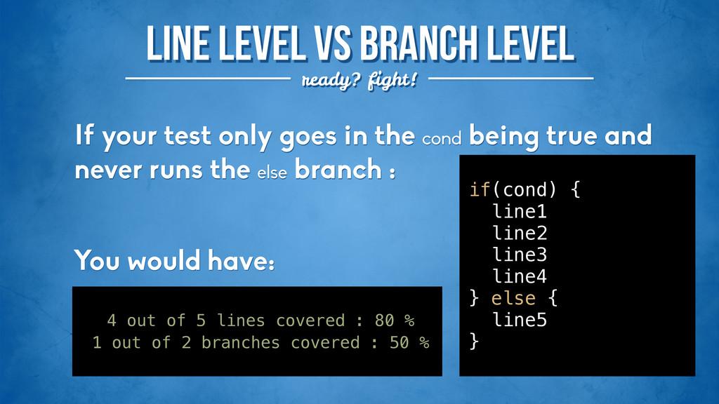 Line level VS Branch level ready? fight! ! 4 ou...