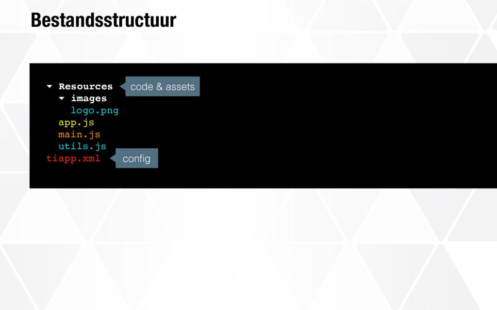 Bestandsstructuur config code & assets ▾ Resourc...