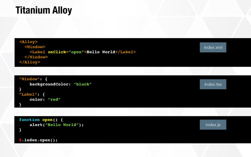 Titanium Alloy <Alloy> <Window> <Label onClick=...