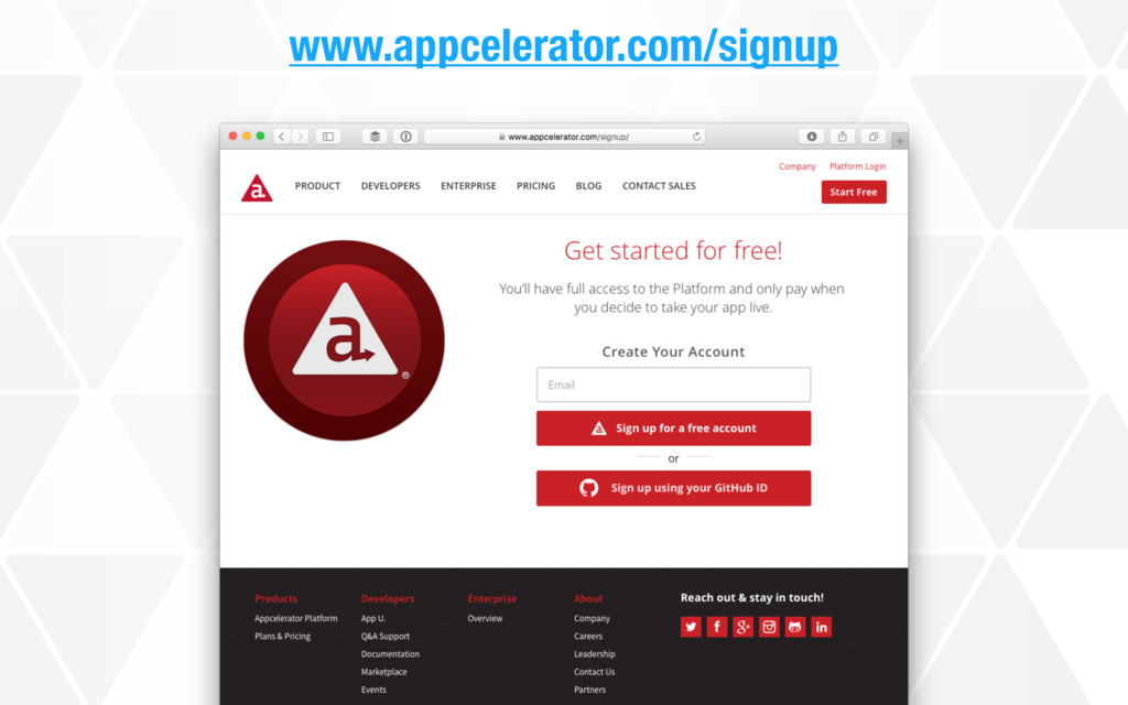 www.appcelerator.com/signup