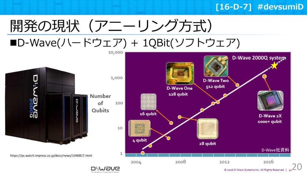 [16-D-7] #devsumiD D-Wave 2000Q system D-Wave(...