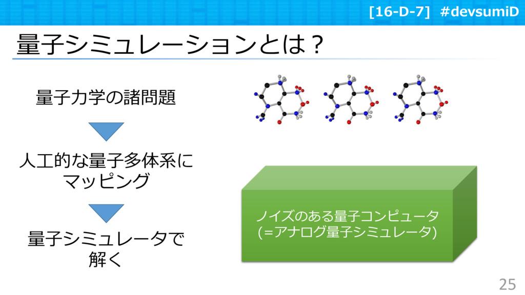 [16-D-7] #devsumiD 25 量子シミュレーションとは? 量子力学の諸問題 人工...