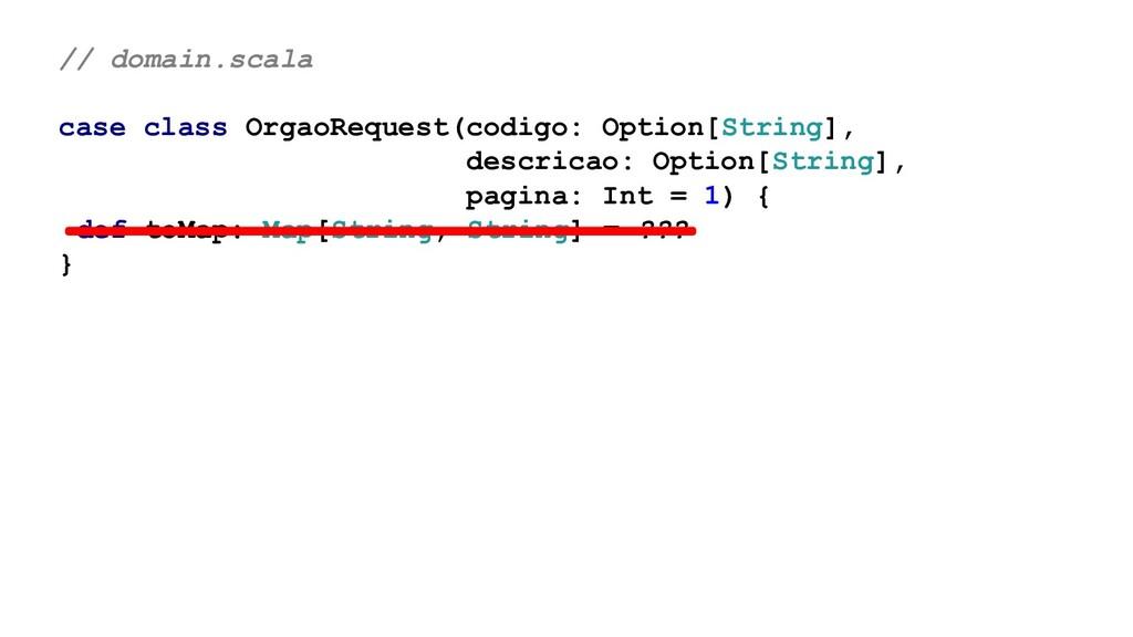 // domain.scala case class OrgaoRequest(codigo:...