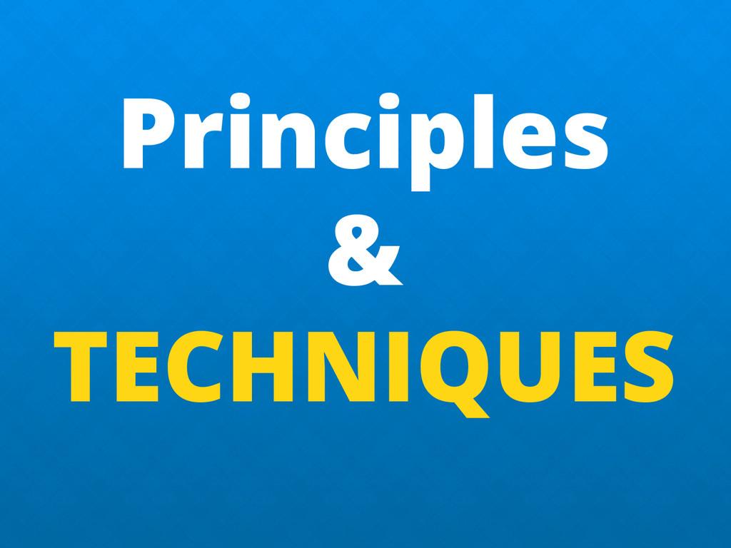 Principles & TECHNIQUES