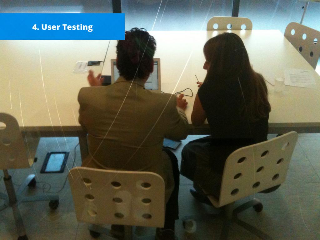 4. User Testing