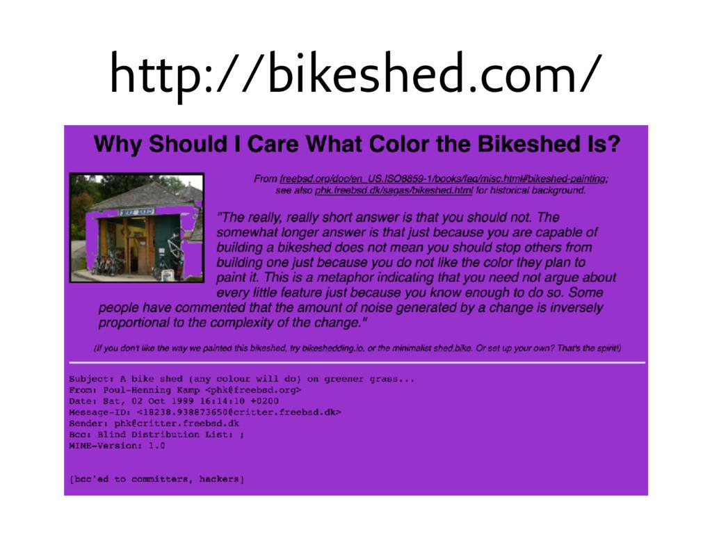 http://bikeshed.com/