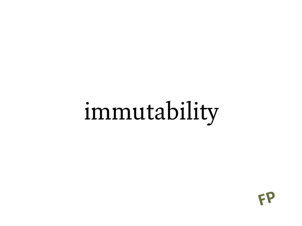 immutability FP