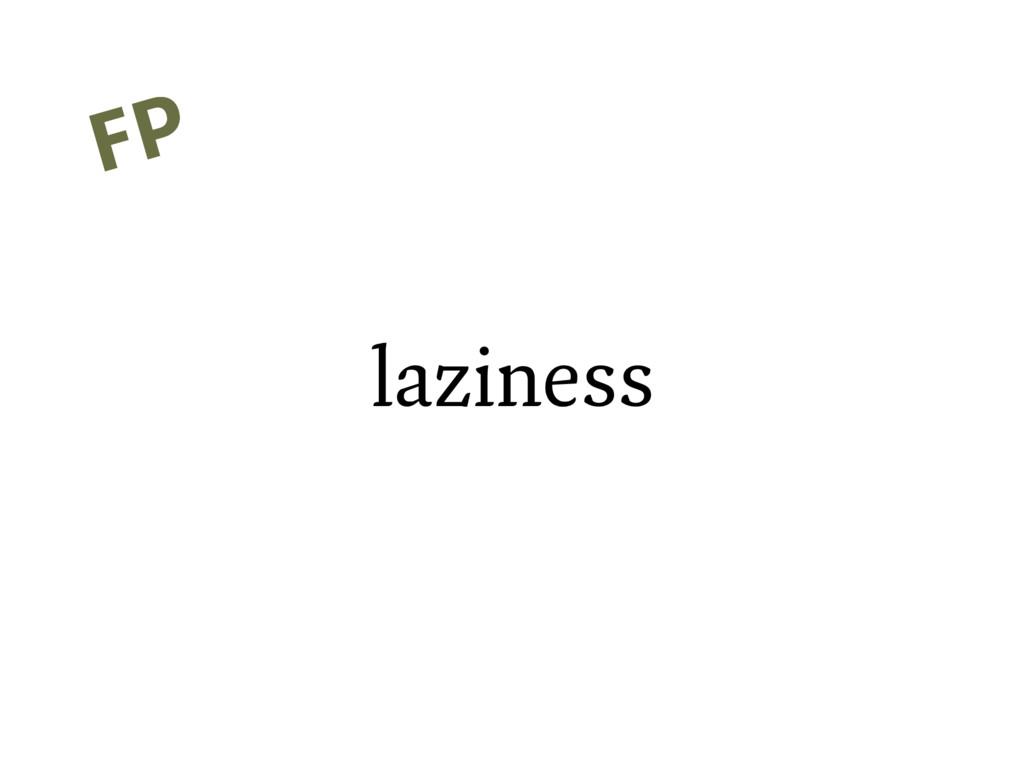 laziness FP FP