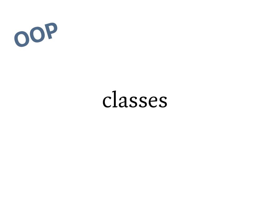 classes OOP