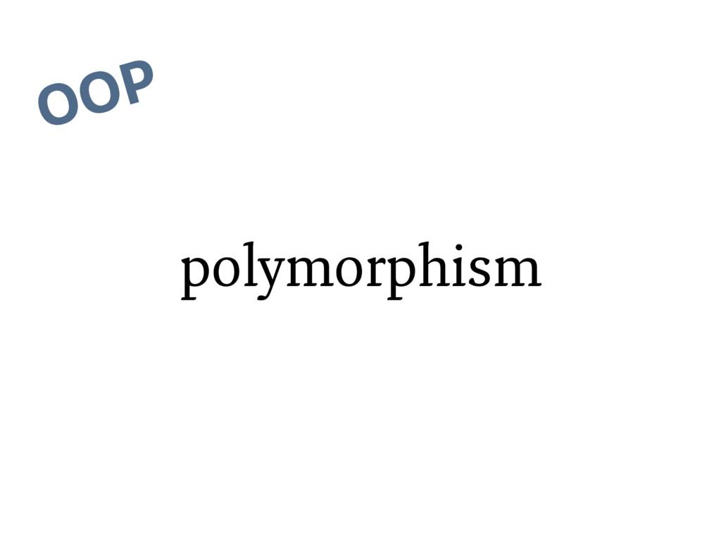 polymorphism OOP