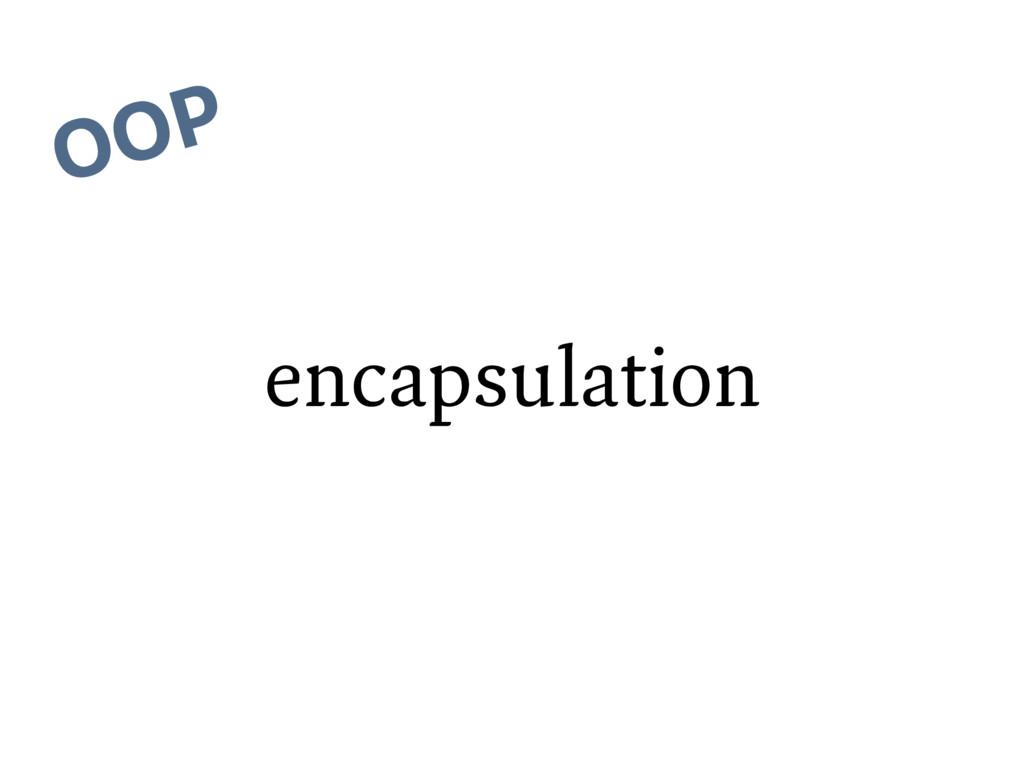 encapsulation OOP
