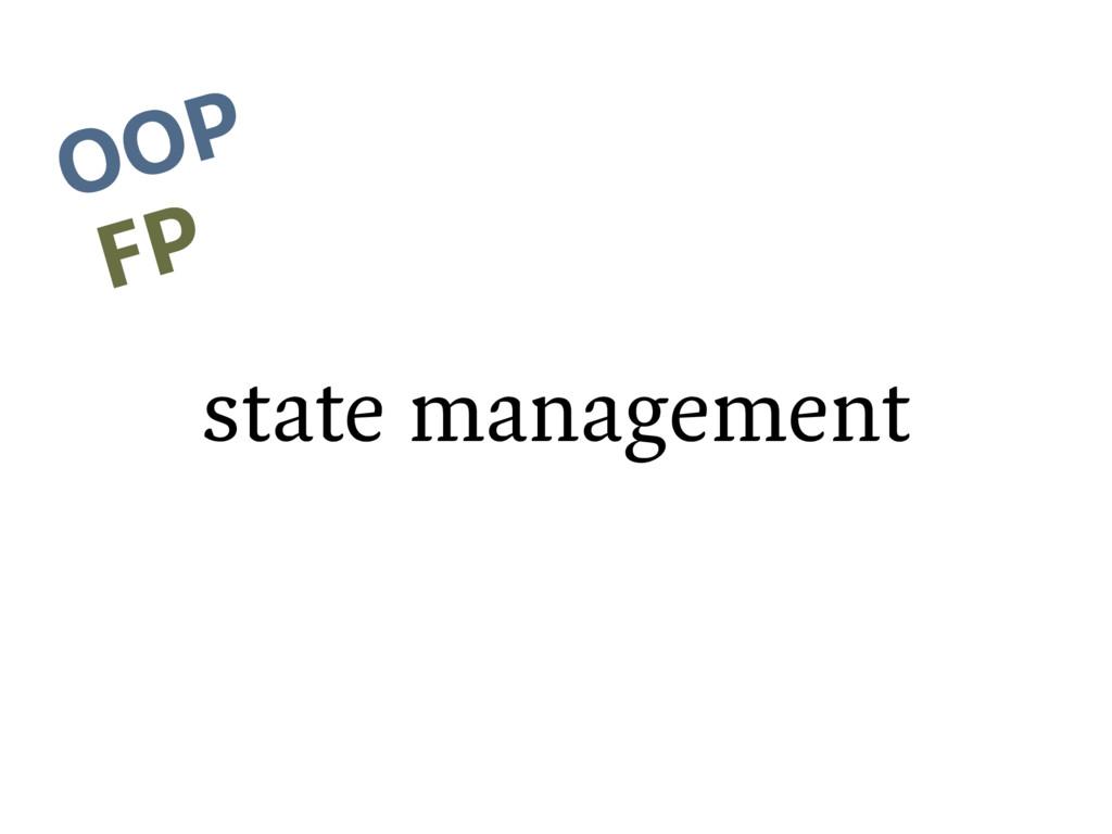 state management OOP FP