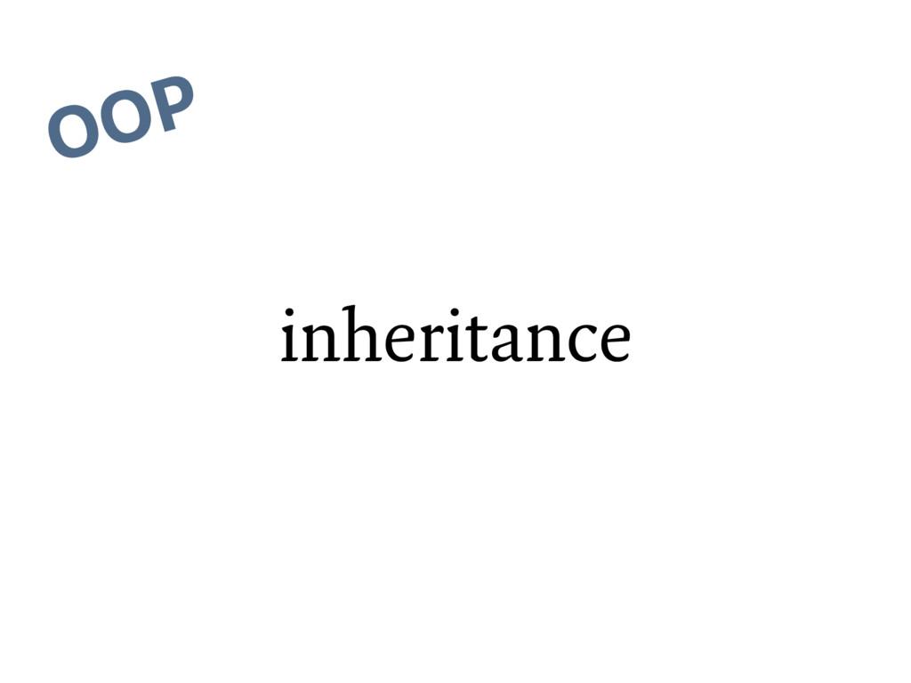 inheritance OOP