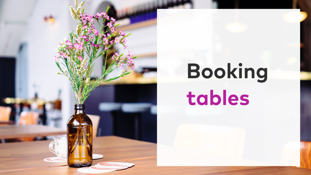 Booking tables