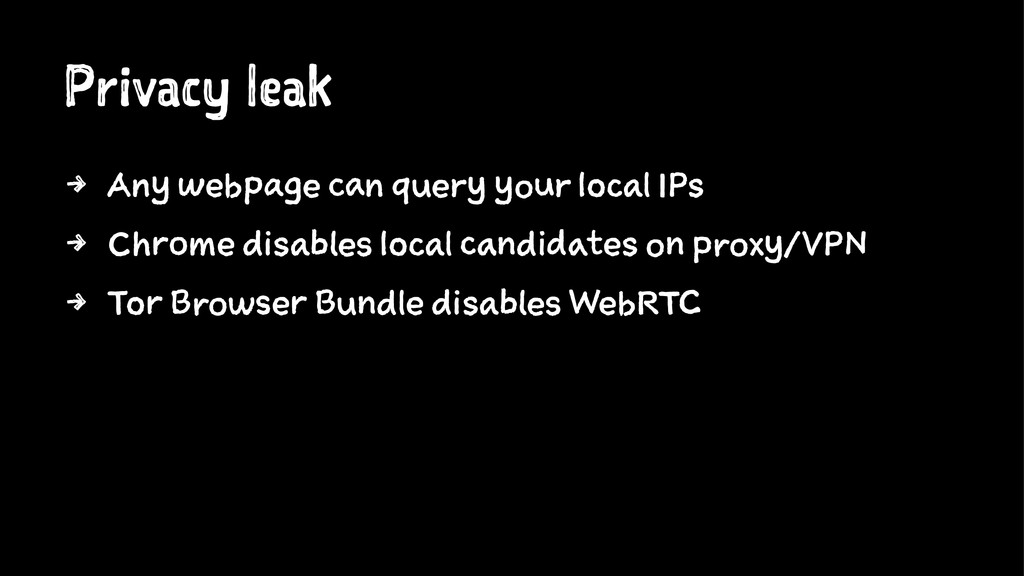 Privacy leak 4 Any webpage can query your local...
