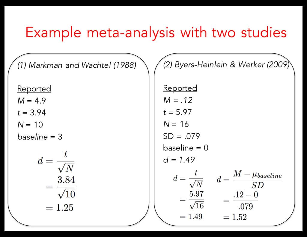 (2) Byers-Heinlein & Werker (2009) Reported M =...