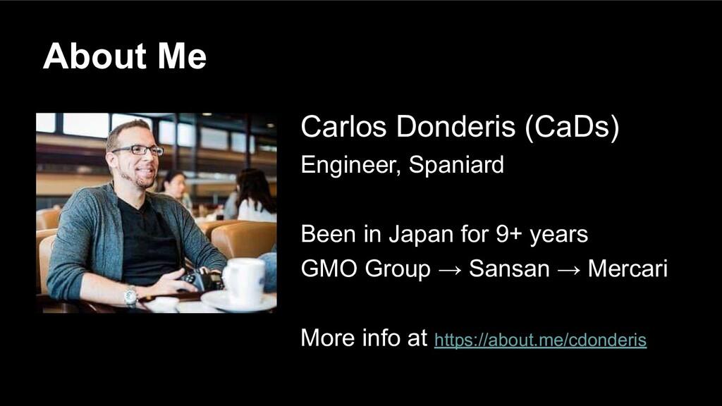 Carlos Donderis (CaDs) Engineer, Spaniard Been ...