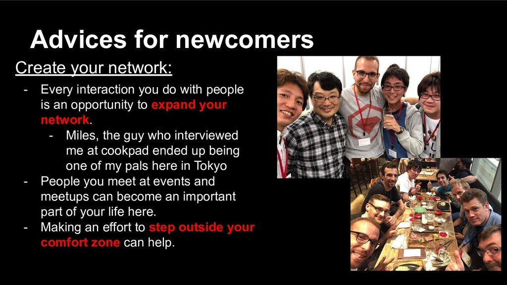 Create your network: - Every interaction you do...