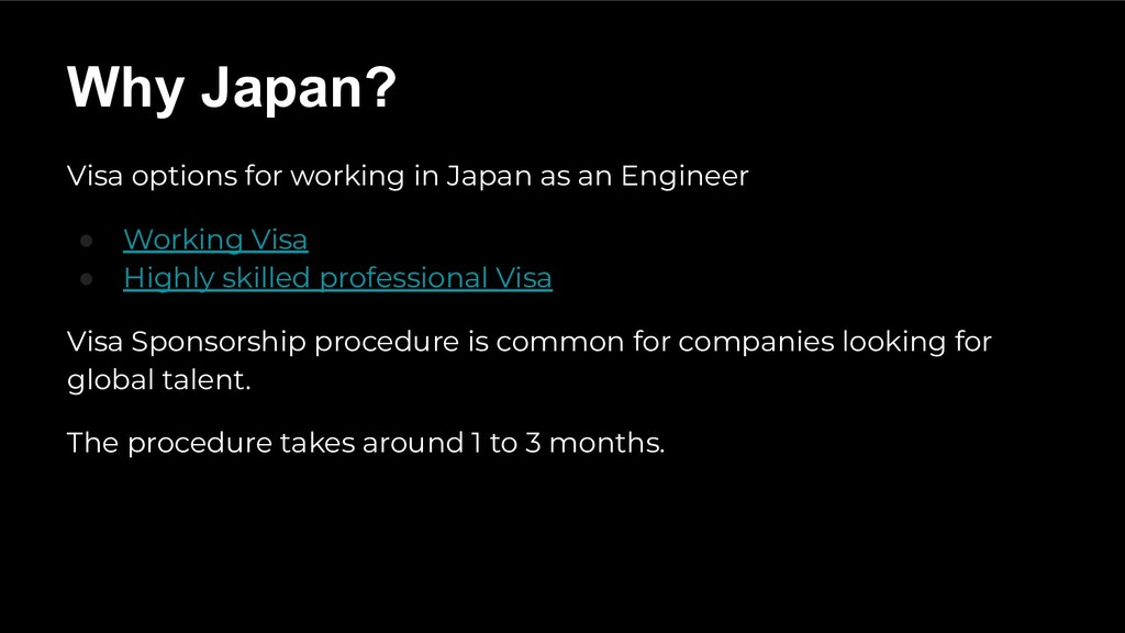 Visa options for working in Japan as an Enginee...